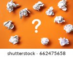 concept with crumpled paper... | Shutterstock . vector #662475658