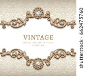 vintage card with diamond... | Shutterstock .eps vector #662475760