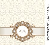 vintage gold jewelry background ... | Shutterstock .eps vector #662475763