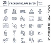 firefighting  fire safety... | Shutterstock .eps vector #662476408
