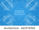 mechanical engineering drawings ... | Shutterstock .eps vector #662476960