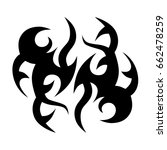 tattoo tribal vector design.... | Shutterstock .eps vector #662478259