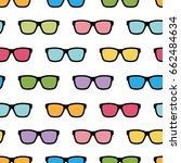 seamless pattern with... | Shutterstock .eps vector #662484634