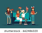 vector flat illustration people ... | Shutterstock .eps vector #662486320