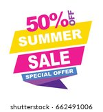 summer sale banner. vector... | Shutterstock .eps vector #662491006