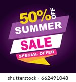 summer sale banner. vector... | Shutterstock .eps vector #662491048