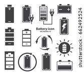 battery icon design on isolate... | Shutterstock .eps vector #662492524