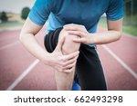running athlete feeling pain...   Shutterstock . vector #662493298