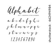 Hand drawn vector alphabet. Script font. Isolated letters written with marker, ink. Calligraphy, lettering. | Shutterstock vector #662494984