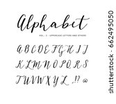 hand drawn vector alphabet.... | Shutterstock .eps vector #662495050