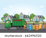 city waste recycling concept... | Shutterstock .eps vector #662496520