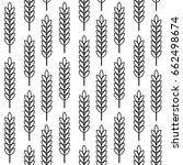 green leaves seamless pattern... | Shutterstock .eps vector #662498674