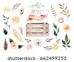 hand drawing isolated boho... | Shutterstock . vector #662499253