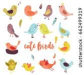 vector icon cartoon bird | Shutterstock .eps vector #662499319