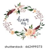 hand drawing isolated boho... | Shutterstock . vector #662499373