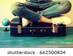 summer travel and vacation... | Shutterstock . vector #662500834