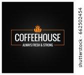 coffee beans logo design... | Shutterstock .eps vector #662502454