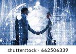 nice to meet you partner .... | Shutterstock . vector #662506339