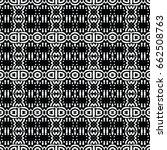 endless black and white... | Shutterstock .eps vector #662508763
