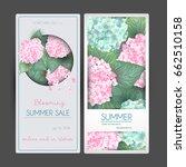 vector flower vertical banner... | Shutterstock .eps vector #662510158