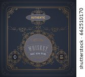 western whiskey label vintage... | Shutterstock .eps vector #662510170