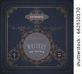 western whiskey label vintage...   Shutterstock .eps vector #662510170