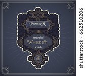 western whiskey label vintage...   Shutterstock .eps vector #662510206