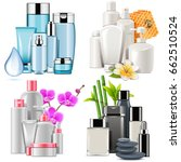 vector cosmetic products | Shutterstock .eps vector #662510524