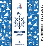 nautical sailing banner and... | Shutterstock .eps vector #662513860