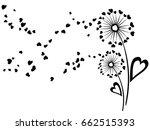 cute dandelion flowers summer... | Shutterstock .eps vector #662515393