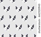 seamless pattern  dog art ... | Shutterstock .eps vector #662520943