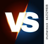 versus letters. shining... | Shutterstock .eps vector #662529808