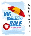 monsoon sale banner template... | Shutterstock .eps vector #662532940