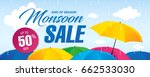 monsoon sale banner template... | Shutterstock .eps vector #662533030