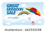 monsoon sale banner template... | Shutterstock .eps vector #662533258