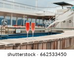 two glasses of pink champagne... | Shutterstock . vector #662533450