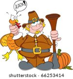 cartoon pilgrim character...