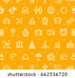 travel and tourism background... | Shutterstock . vector #662536720