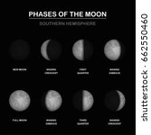 moon phases chart  shapes of...   Shutterstock .eps vector #662550460