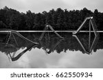 black and white water... | Shutterstock . vector #662550934