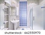 modern interior of the bathroom ...   Shutterstock . vector #662550970
