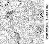 tracery seamless pattern.... | Shutterstock .eps vector #662551480