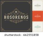 ornament logo design template... | Shutterstock .eps vector #662551858