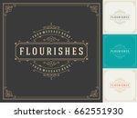 ornament logo design template... | Shutterstock .eps vector #662551930
