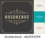 ornament logo design template... | Shutterstock .eps vector #662551954