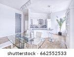 modern design white kitchen in... | Shutterstock . vector #662552533