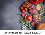 ingredients for making... | Shutterstock . vector #662553310