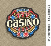 vector logo for casino ... | Shutterstock .eps vector #662558536