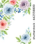 painted watercolor composition... | Shutterstock . vector #662558800