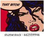 Pop Art Syle Comic Book Panel...